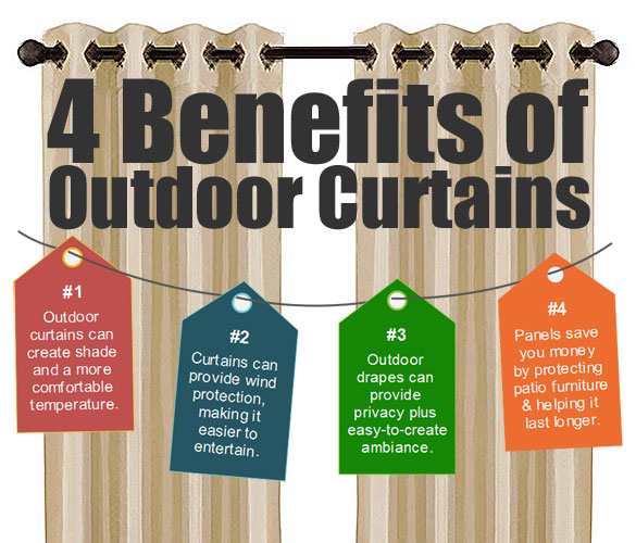 4 Benefits of Using Outdoor Curtains