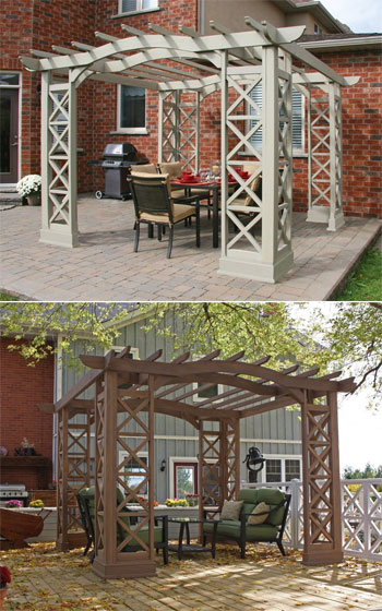 Yardistry Arched Roof Pergola