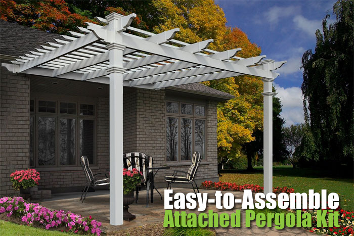 - Easy-to-Assemble Attached Pergola Kit: 4 Advantages