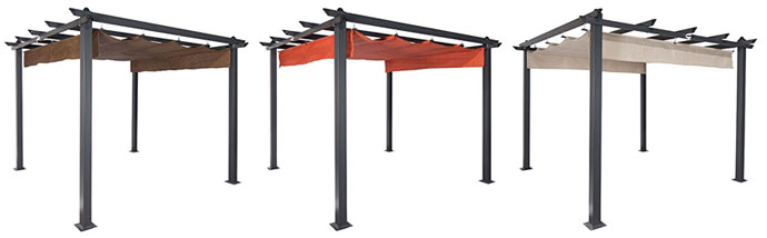 Coolaroo Constantine Pergola, Canopy in 3 Colors