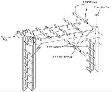 Dura Trel Arbor Assembly Instuctions