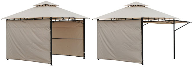Outsunny Expandable Gazebo with Side Walls that Flip Up or Down