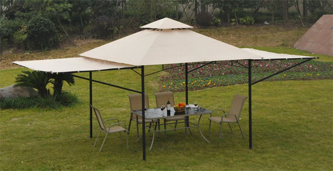 Outsunny Portable Expandable Gazebo For Outdoor Dining And Special Events