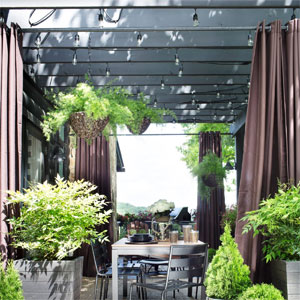 Outdoor Pergola Curtain Panels
