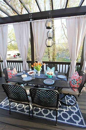 Pergola Dining Room on Deck