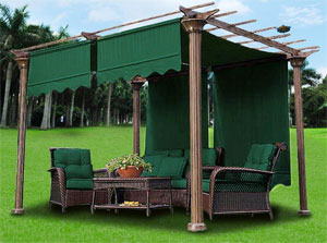 Pergola Replacement Canopy in Green & My Favorite Pergola Canopy Replacement Covers