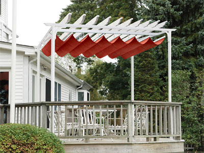Red Pergola Canopy
