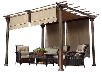 Beige Replacement Canopy for Pergola