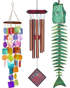 3 Versions on Wind Chimes for an Outdoor Pergola